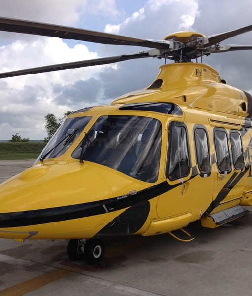 Heavy Yellow Helicopter