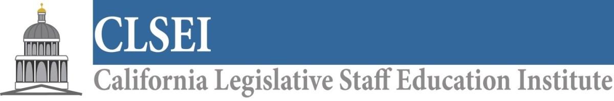 California Legislative Staff Education Institute.