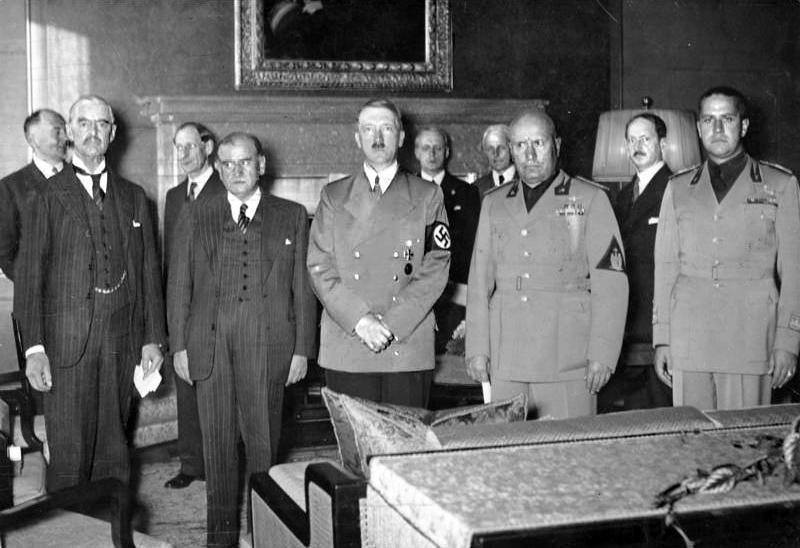 I firmatari dell'accordo di Monaco - Fonte: https://it.wikipedia.org/wiki/Conferenza_e_accordo_di_Monaco