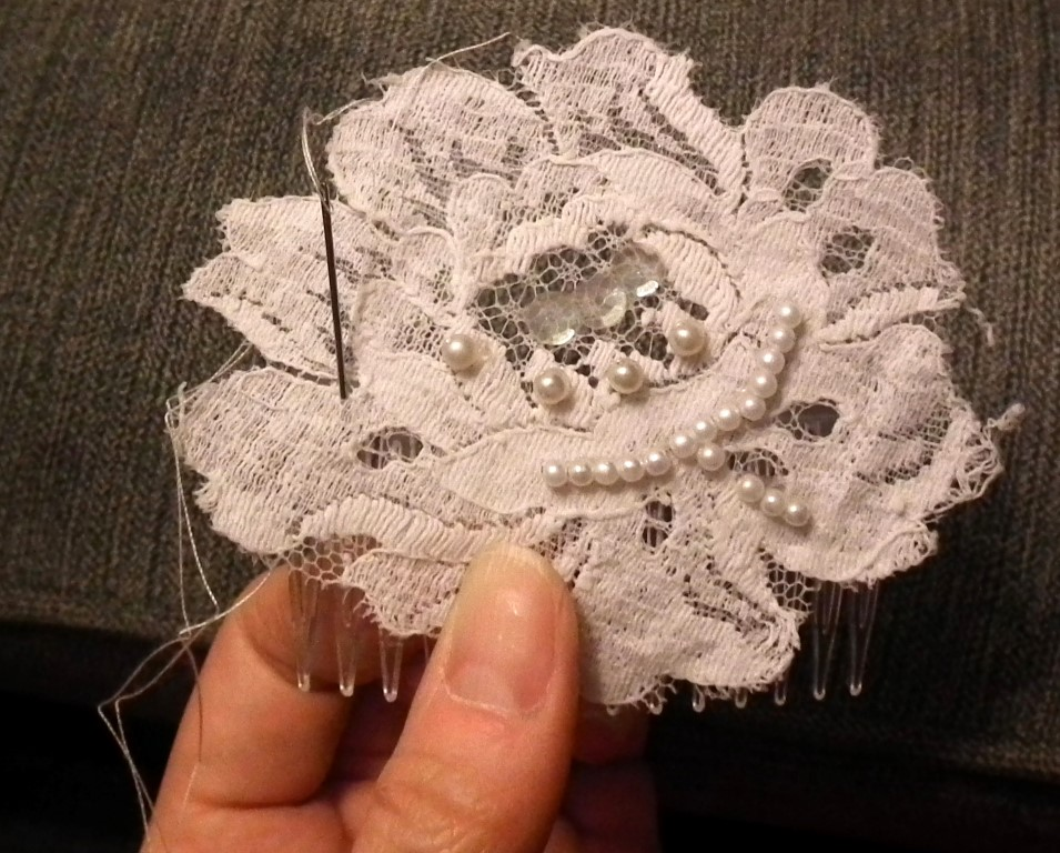 DIY Tutorial How To Make A DIY Bridal Hair Comb For Your