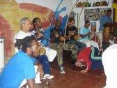 Roda de Capoeira com a presença dos mestres, no SapéCapoeira, out.2013.