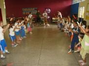 Ensaio do Maculelê na escola Amorim Lima