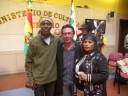 Mestre Alcides de Lima participa de encontro Intercultural, em La Paz, Bolívia, 22.10.2013.