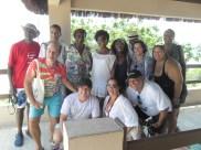 Equipe que viajou com mestre Alcides para conhecer a praia de Pipa.