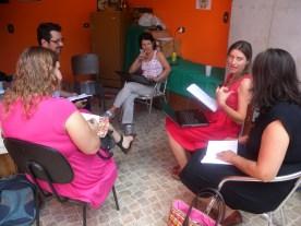 Reunião do grupo de estudos para produção partilhada de saberes.