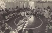 Roda de capoeira na USP, 1978. Arquivo pessoal Mestre Alcides de Lima.