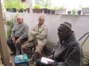 Mestres Durval do Coco, Dorival dos Santos e Alcides de Lima - Reunião Grupo de Estudos CEACA, 09.08.2014 - casa do Edison.