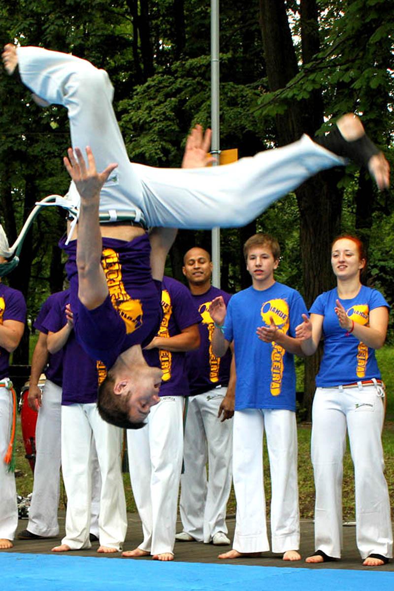 Pierwszy trening capoeira - Capoeira Brasil - Instrutor Mata - Czechowice-Dziedzice - Bielsko-Biała