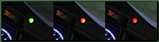 Aprilia Caponord ETV1000 Rally-Raid - Sparkbright multi-state auto dimmng battery monitor