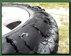 Range Rover P38 rear tyre failure - Pescara Italy