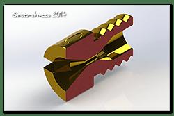 Solidworks model of a #60 Jet sliced in half!