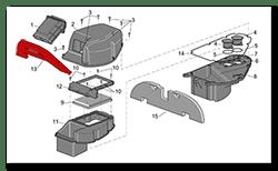 Aprilia Caponord ETV1000 Rally-Raid acoustic panel AP8117151