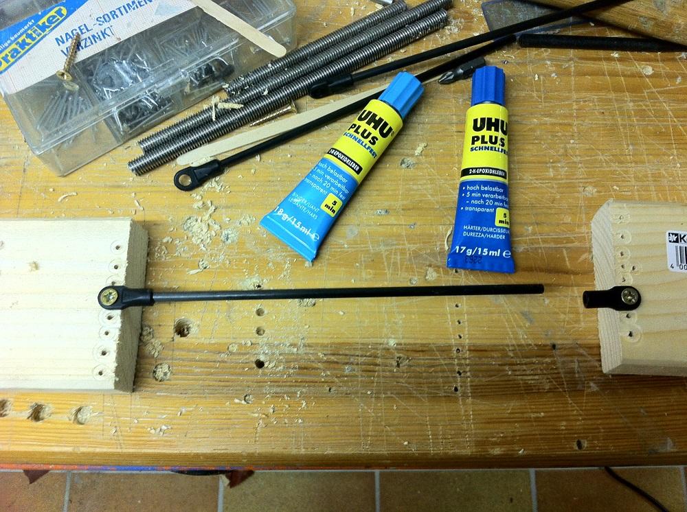 Rostock Mini diagonal rods glueing rig that failed its purpose