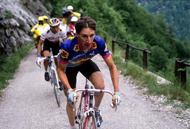 1/6/1989 Dauphine Libere 1989. Crest to Grenoble. Robert Millar. Photo: Offside / L'Equipe