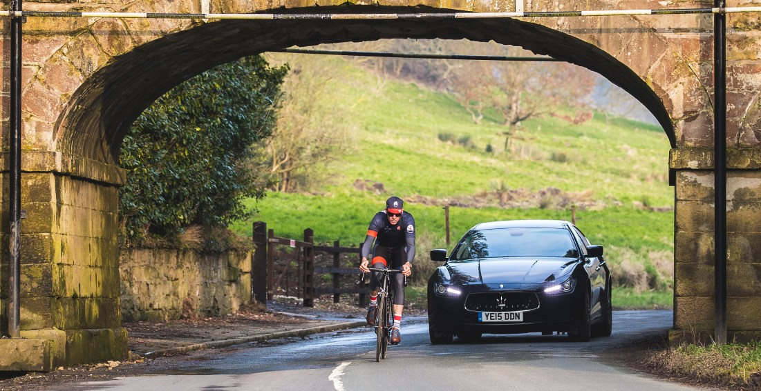 Picture by Alex Whitehead/SWpix.com - 11/03/2016 - Cycling - Tour de Yorkshire - Maserati and David Millar - Scarborough, Yorkshire, England.