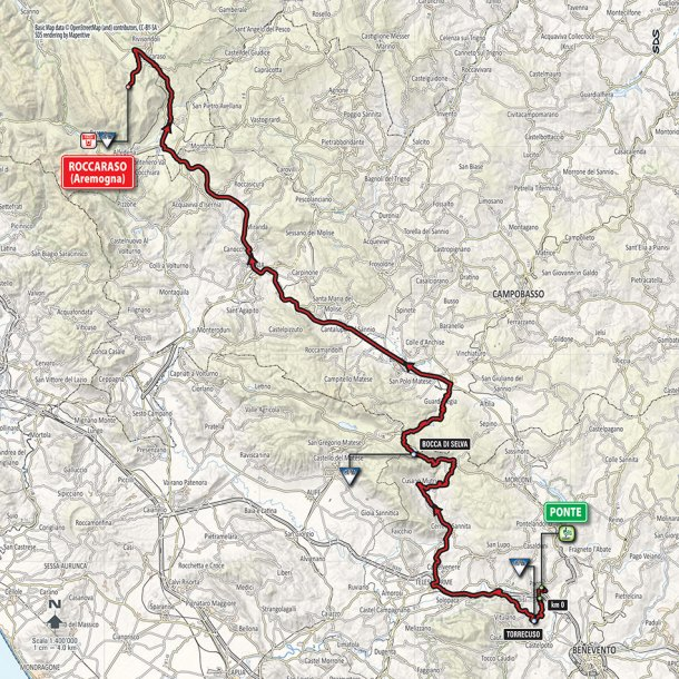Giro-dItalia-2016-Stage-6-Ponte-to-Roccaraso-route-map