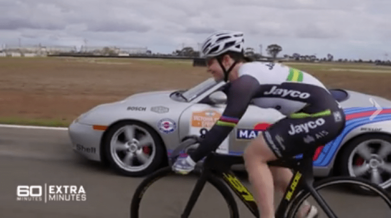 anna-meares-vs-porsche-boxster-facebook-video-still-60-minutes-australia