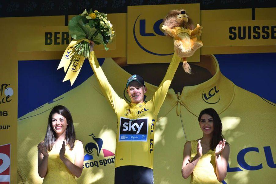 Tour de France 2016 - 18/07/2016 - Etape 16 - Moirans-en-Montagne/ Berne (209 km) - Christopher FROOME (TEAM SKY), maillot Jaune