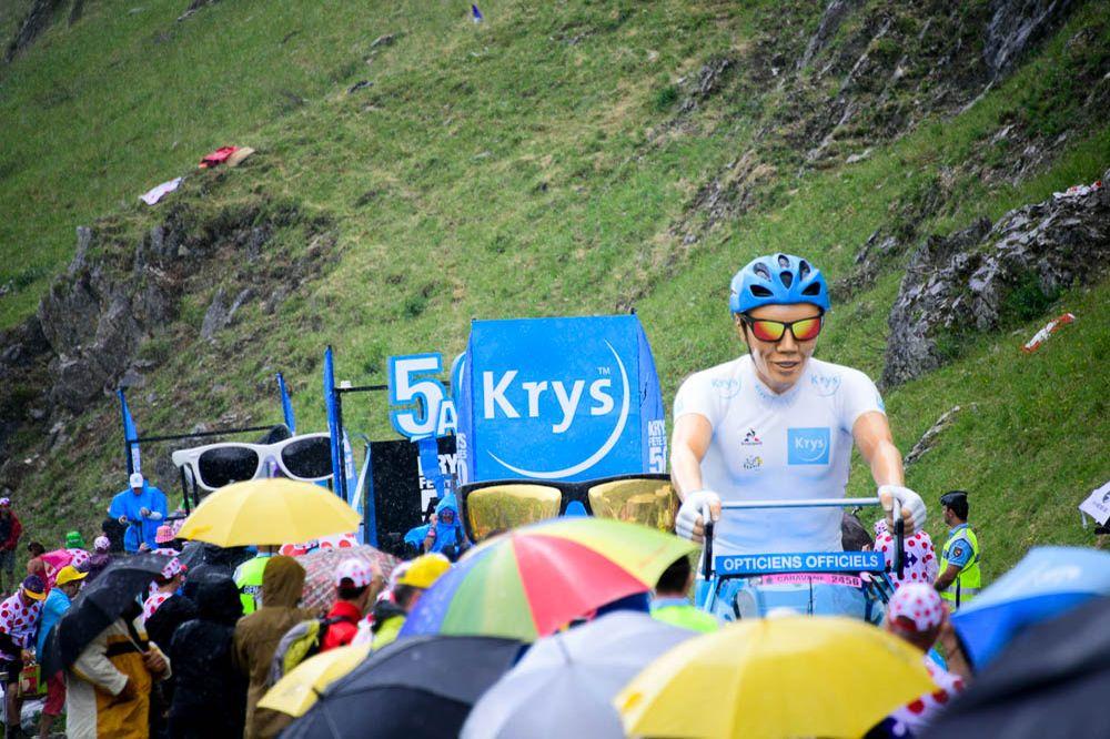 Tour de France 2016 - 23/07/2016 - Etape 20 - Megève / Morzine (146,5 km) - La caravane poursuit sa traversée sous la pluie