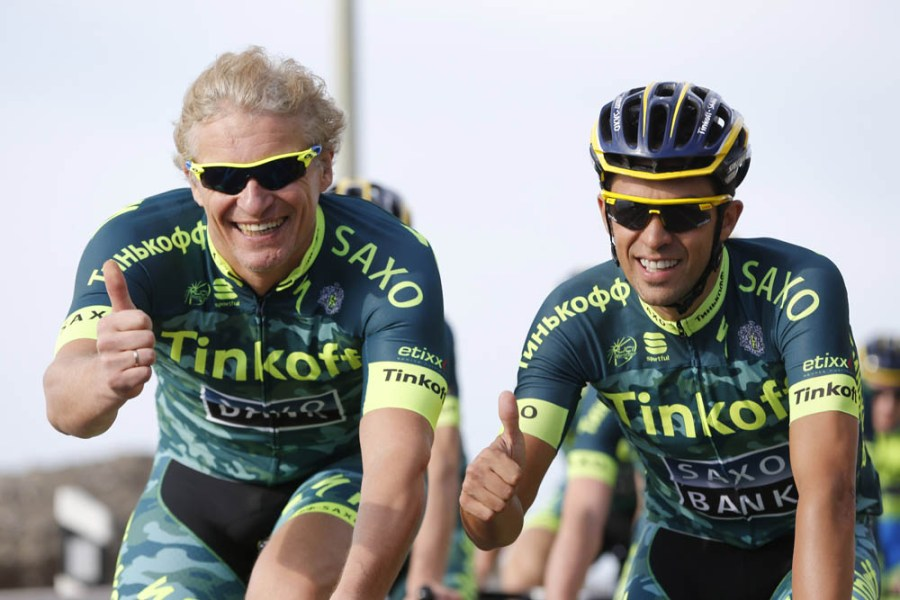 Alberto Contador at the Tinkoff-Saxo training in Gran Canarias
