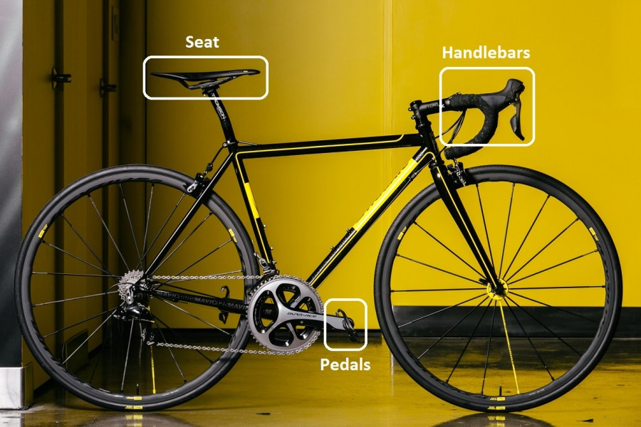 mavic-bike-points-of-vibrations-transmission-between-road-and-cyclist
