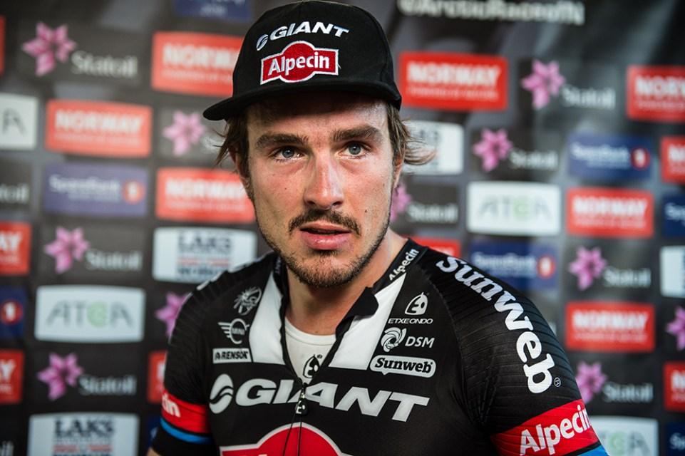 Arctic Race of Norway 2016 – 14/08/2016 – Quatrième étape : Cercle Polaire/Bodo (193km) – Norvège – Le vainqueur de l'étape John DEGENKOLB de l'equipe TEAM GIANT-ALPECIN