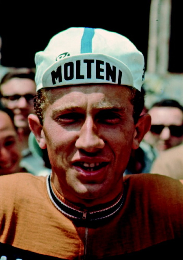 The Italian cyclist Gianni Motta posing at the start of a stage of the Giro d'Italia. Italy, May 1966 (Photo by Giorgio Lotti;Walter Mori/Mondadori Portfolio via Getty Images)