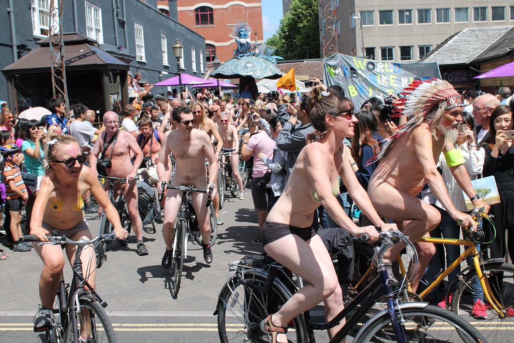 world bike ride naked nude Brazil