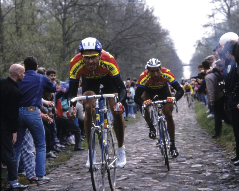 JEAN MARIE WAMPERS IN THE 1990 PARIS-ROUBAIX