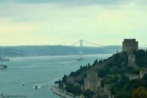 Осеннее утро в Стамбуле - облака над Босфором