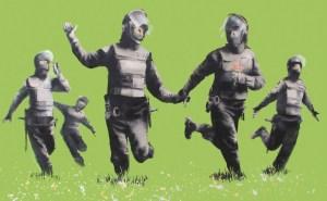 Runnig Cops (Banksy)