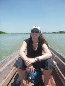 Boat on the Usumacinta River