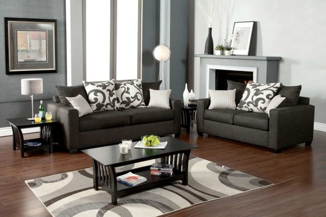 Hermosa Sofa + Loveseat set (gray) - Sofa Sets - Living Room