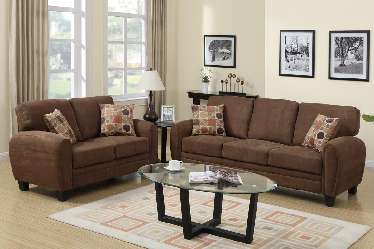loveseat saddle brown sofa sets