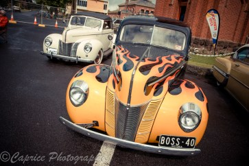 A pair of 1940 Fords showing the variety of styles welcome