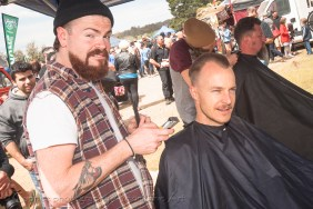The barbers were on hand for all cool dos!