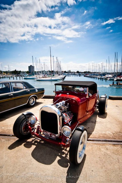 Scenic all the way at Smokin Aces car and bike show