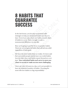 8 HABITS THAT GUARANTEE SUCCESS