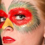 Bird Inspired Makeup Closeup