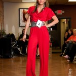 Hair and Makeup Competition Red Jumpsuit