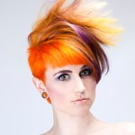 Orange and Purple Faux Hawk