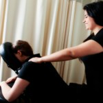 Chair Massage Given by Capri College Student