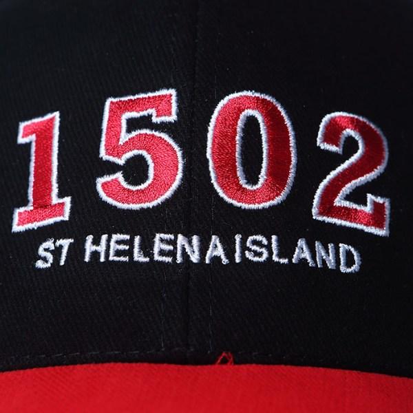 St Helena Island 1502 baseball cap red black white