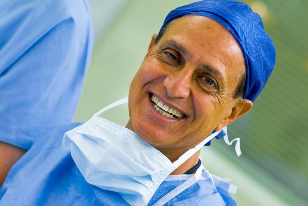 Image of doctor in surgical scrubs