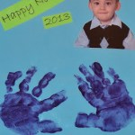 Happy New Year Hand Print  Art