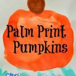Palm Print Pumpkins & Handprint Moons