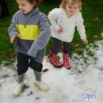 California Fun with Artificial Snow