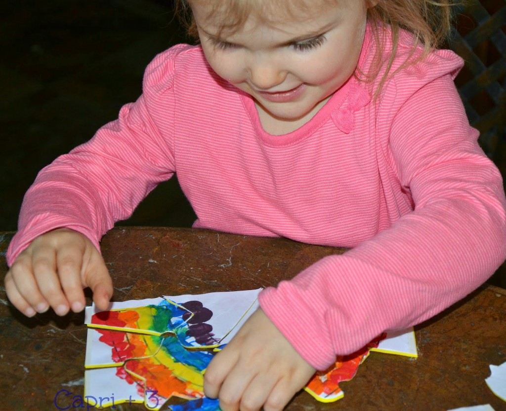 Turn Your Childs Artwork Into Puzzle on Trace The Shapes With Playdough