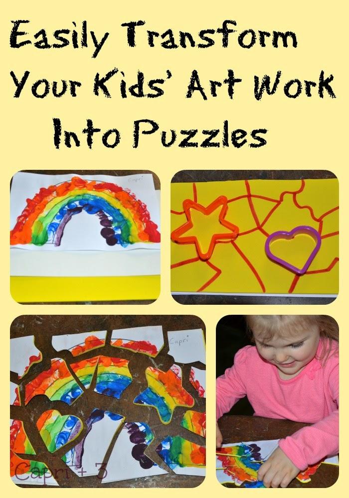 turn your child s artwork into a puzzle capri 3