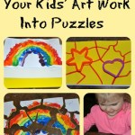 Turn Your Child's Artwork Into A Puzzle #playfulpreschool